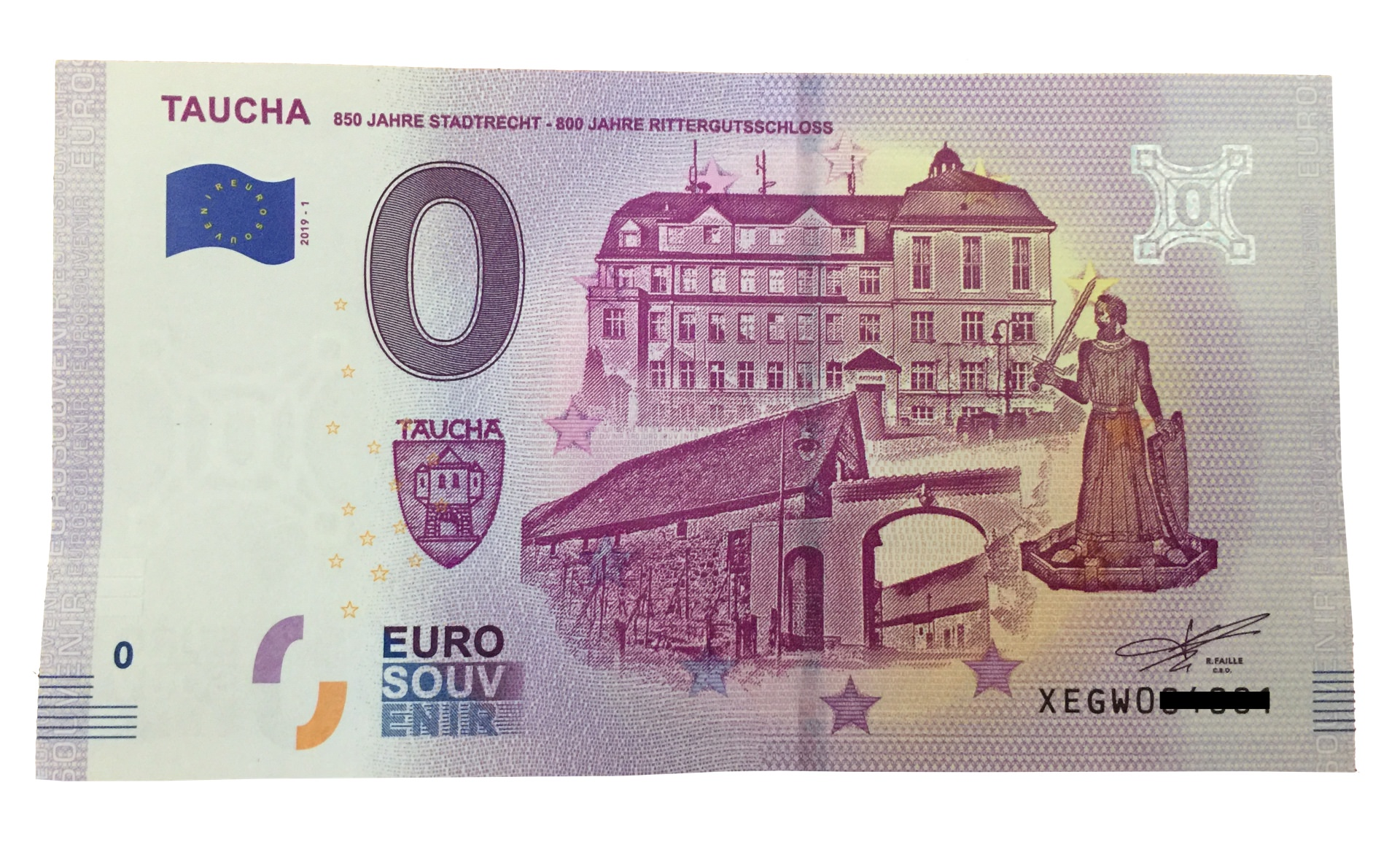 0 Euro Schein Taucha Setzt Auf Sammlertrend So Sieht Der Schein Aus